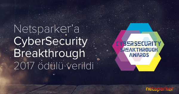 Netsparker'a CyberSecurity Breakthrough 2017 Ödülü Verildi
