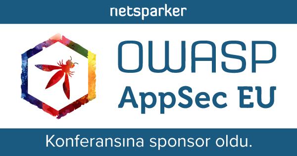OWASP AppSec Avrupa Konferansına Sponsor Olduk